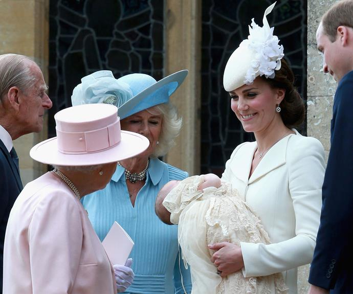 The christening of Princess Charlotte was on July 5, 2015. Photo: Getty