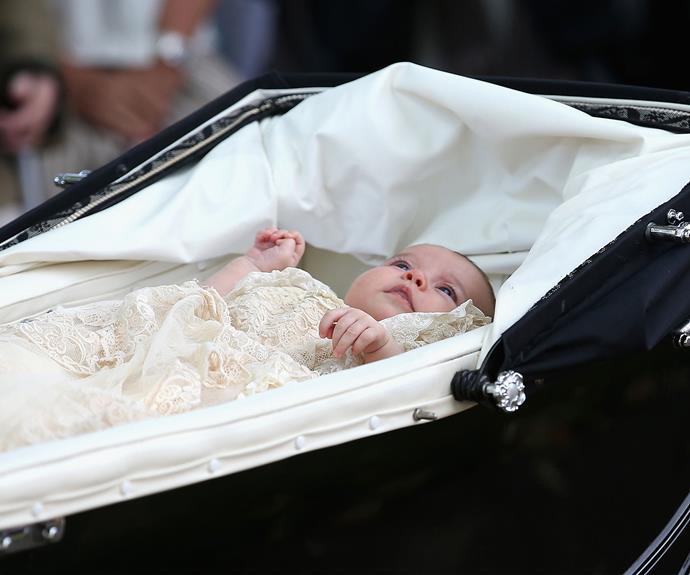 Princess Charlotte's christening. Photo: Getty