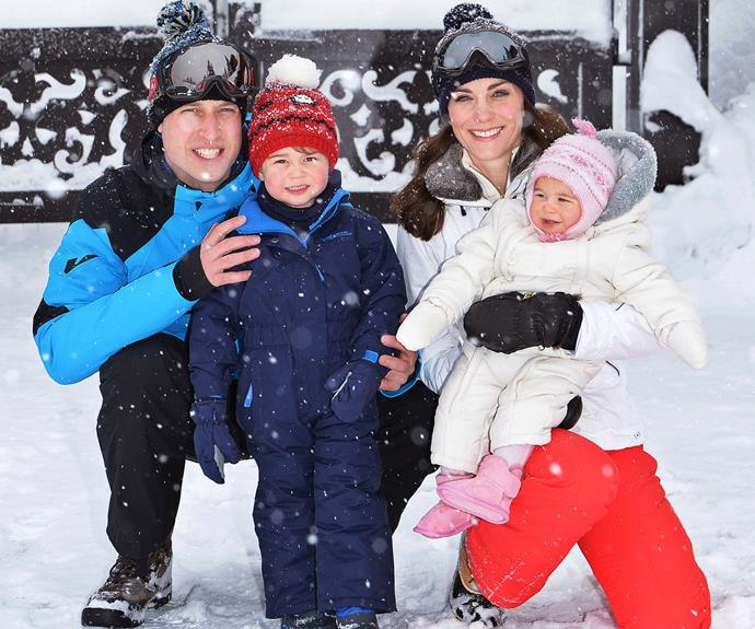 The Duke and Duchess of Cambridge enjoyed a holiday with their children in the French Alps. Photo: Getty