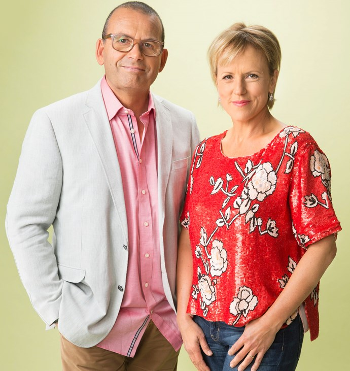 Hilary with fellow broadcaster Paul Henry