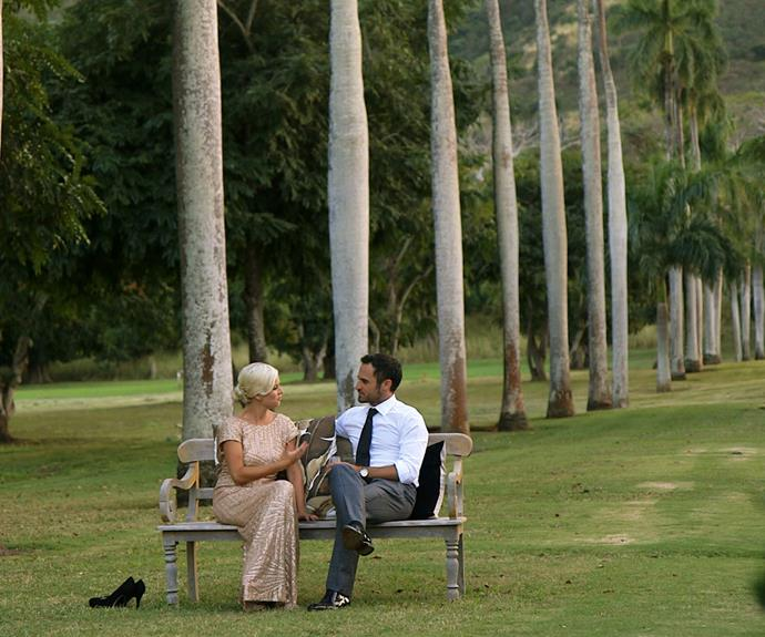Jordan and Fleur sit down for a heart-to-heart during their trip to Hawaii.