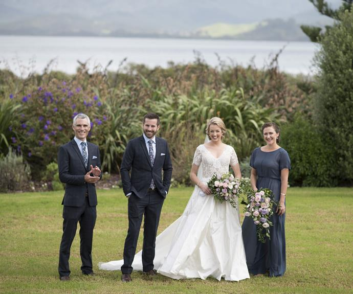 The couple first met four-and-a-half years ago, when sports reporter Ross walked into his new place of work at the 3 News office in Wellington and clapped eyes on his future wife working hard at her desk.
