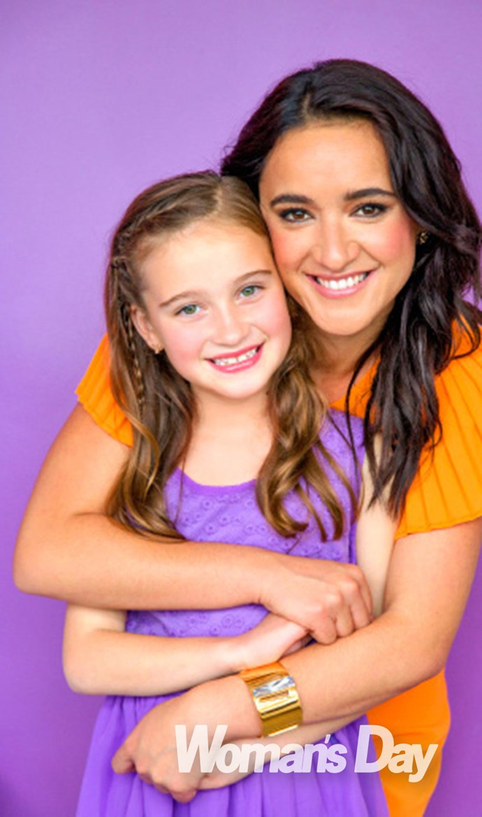 Actress Keisha Castle-Hughes and her daughter Felicity-Amore.