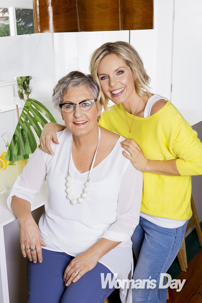 "Anna Guy with her beloved mother Joanne, who she describes as her ""guardian angel""."