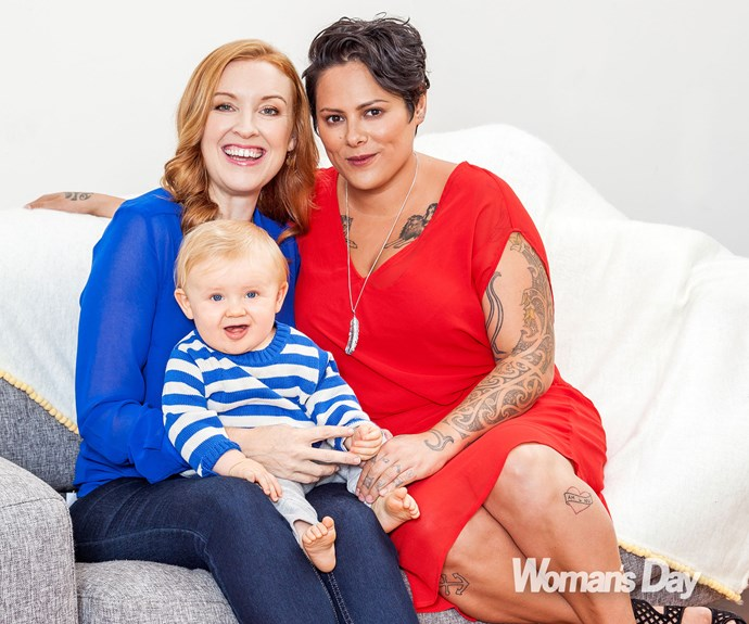 Anika Moa and her journalist fiancee Natasha Utting welcomed son Soren in 2014. Anika is also a proud mum to twin boys Barry and Taane from a previous relationship.