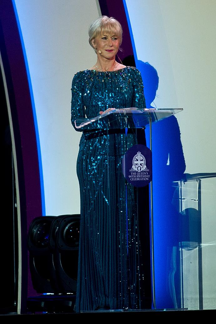 Dame Helen Mirren narrated part of the festivities, which included a look back at the Queen's early teenage years.