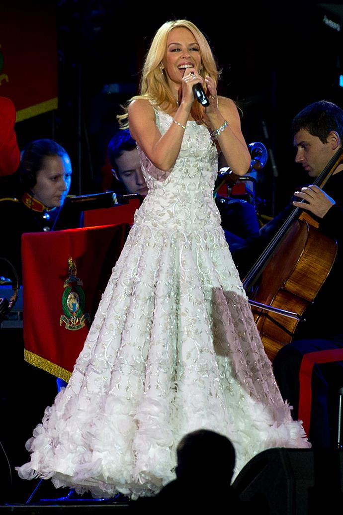 Kylie Minogue also performed at the gala.