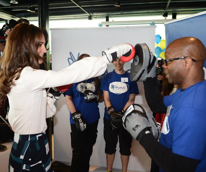"The champion boxer later revealed the Duchess had ""a mean right jab"". Photo: Getty"