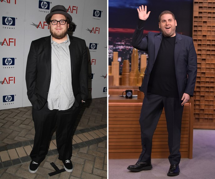 """Jonah Hill first slimmed down for his roles in the dramatic films *Moneyball* and *The Wolf of Wall Street*. While his weight has fluctuated over the years, the star has been [open about his journey]( http://www.intouchweekly.com/posts/jonah-hill-weight-loss-80612
