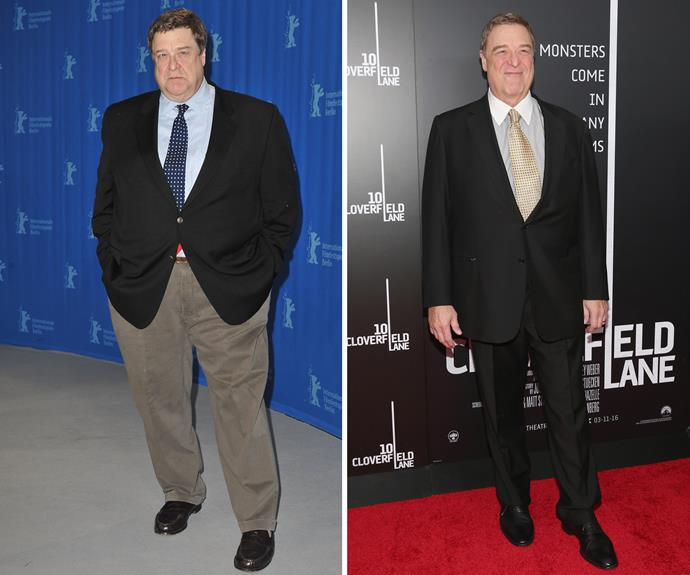 """John Goodman has attributed his amazing weight loss to a change in eating habits. """"I decided to stop stuffing food into my mouth every five minutes. Turns out I was just eating all the time,"""" he revealed in an [interview.]( http://www.eonline.com/news/747165/john-goodman-likely-won-t-maintain-his-weight-loss