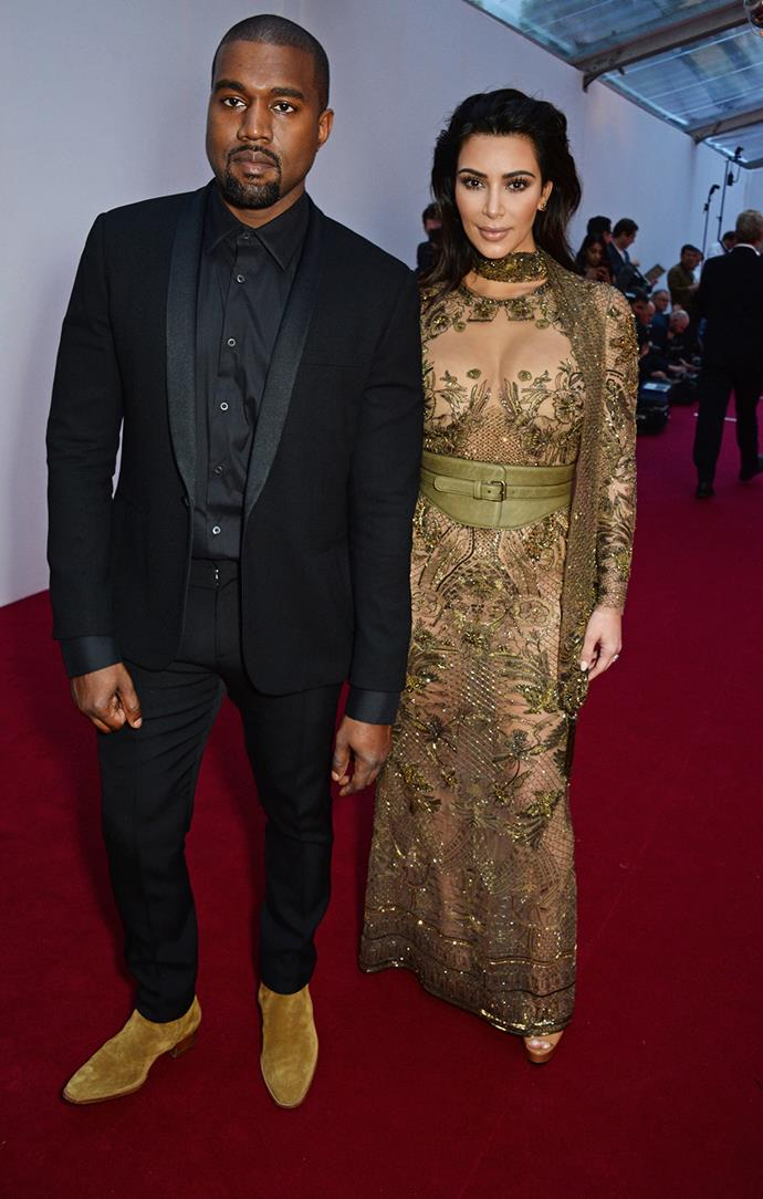 Kim walked the red carpet with husband Kanye West.