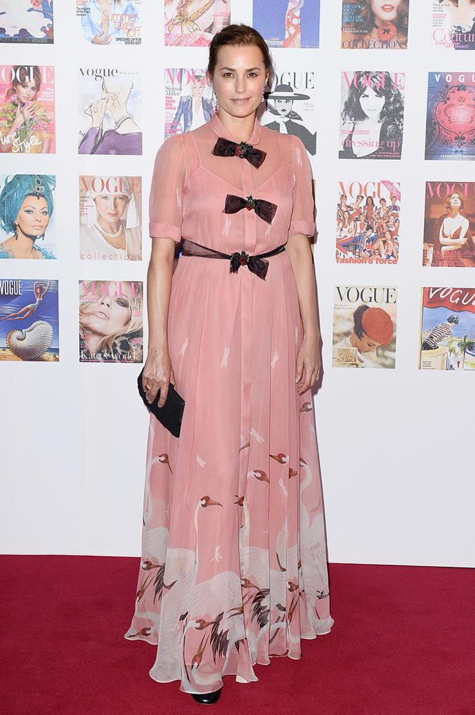 Yasmin Le Bon's fussy pink look didn't hit the mark for us.