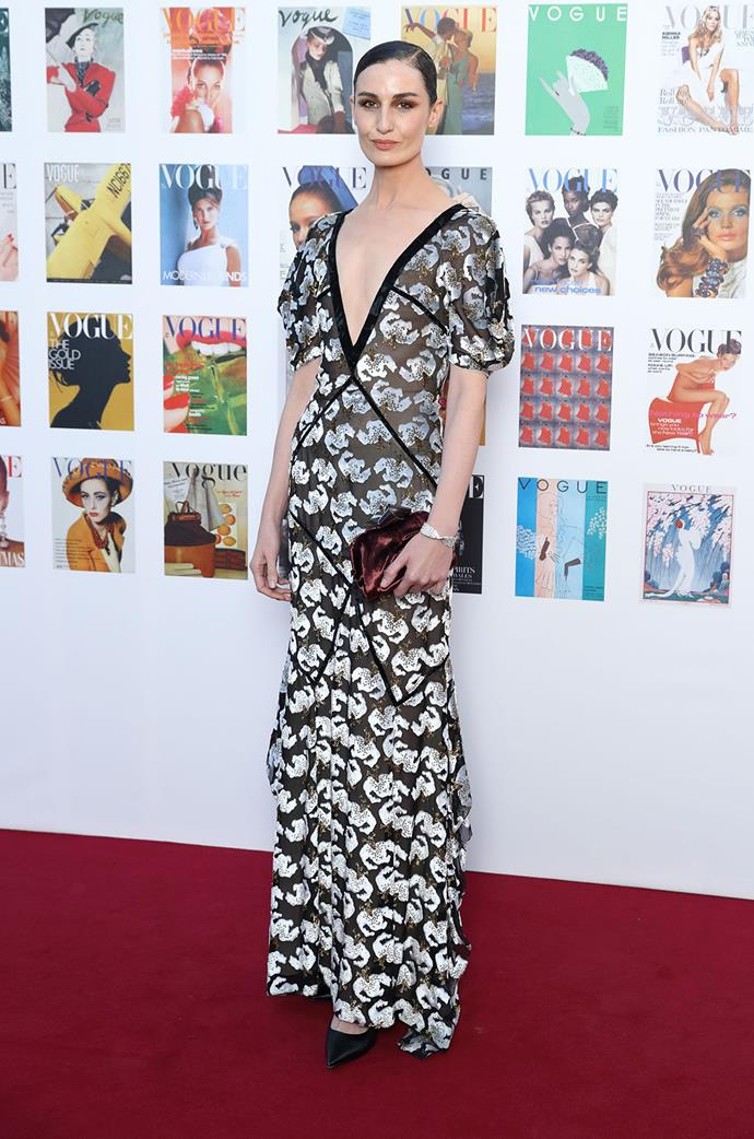 Erin O'Connor looked as sophisticated as ever!
