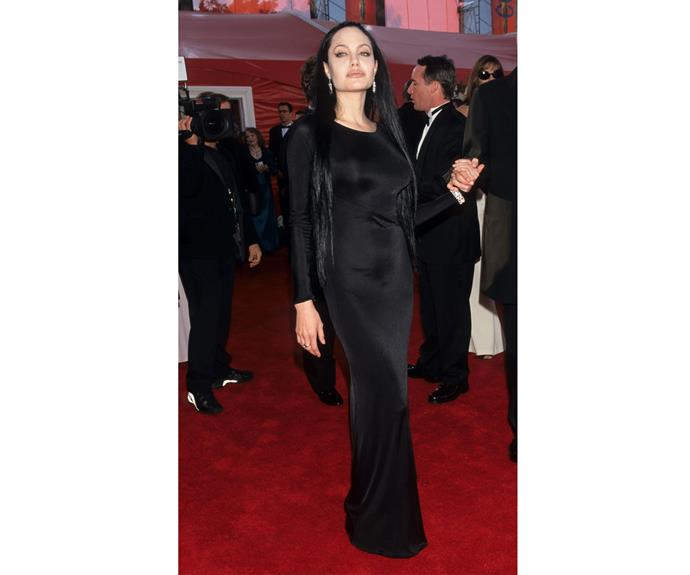 At the Academy Awards of the year 2000, when Ange took home the Best Supporting Actress Oscar for *Girl, Interrupted*, the actress opted for an all black look.