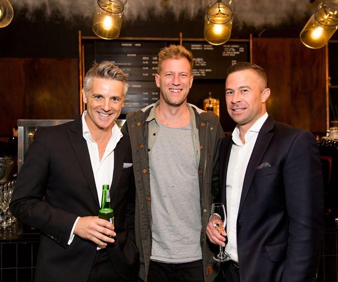 Shane Cortese, Kyle Bell and Noah Hickey. Photo: Carmen Bird