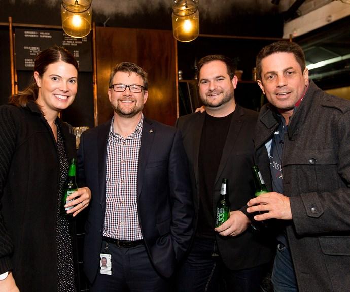 Kate Baars, Andrew Forbes-Faulkner, Cody Hughes and Simon Wilson. Photo: Carmen Bird
