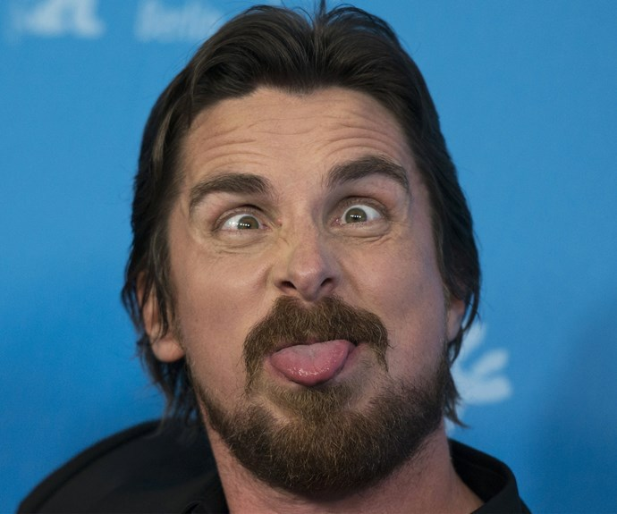 He's known for playing a variety of serious characters in heavy-hitting dramas, but Christian Bale proves he's got a silly side too!