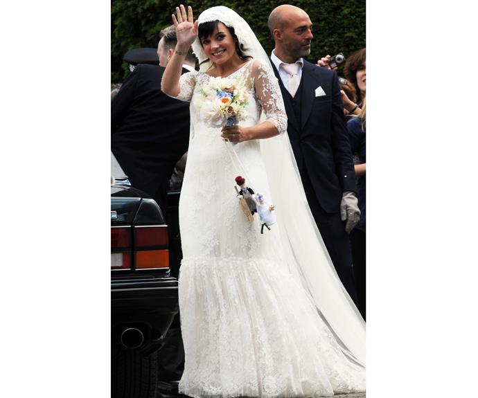 Lily Allen and her husband Sam Cooper are wed at St James the Great church on June 11, 2011 in Cranham, Gloucestershire, England.