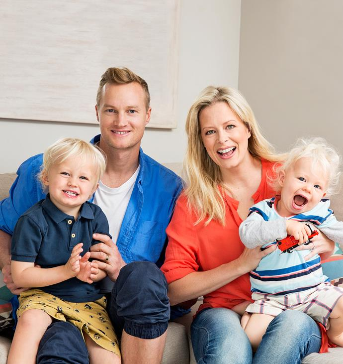 Shelley and Steven with their beautiful boys Flynn (left) and Jett.