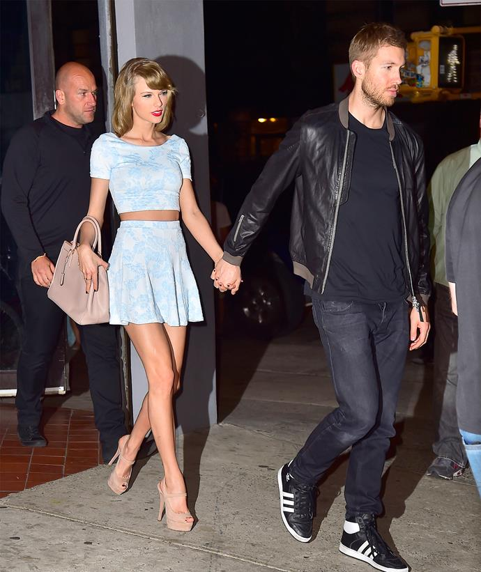Taylor and Calvin pictured during a date night in happier times. Photo: Getty