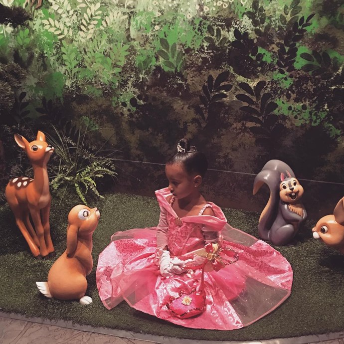 North has a princess moment at Disneyland.  **Watch little North show off her dancing skills in the video below - gallery continues after video**