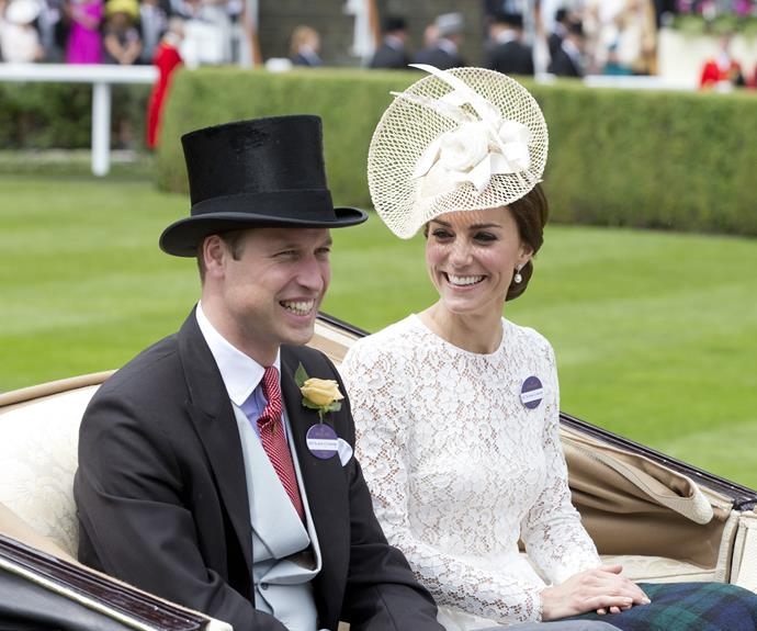 Day two of the races also saw Prince William and Duchess Catherine's first appearance together at the event.