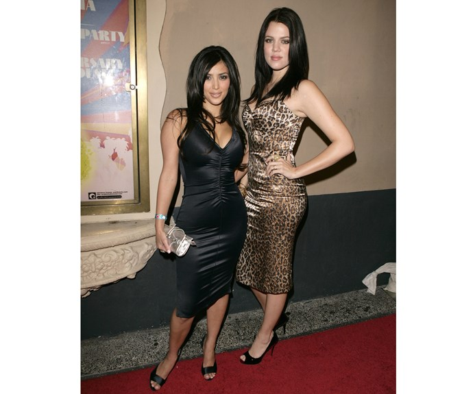 """In 2006, when Kim's myspace touted her as Princess Kimberly, reading """"I'm a PRINCESS and you're not so there!"""", Khloe was only just popping up on everyone's radars... Or if she wasn't, this leopard print dress certainly put her on the map!"""