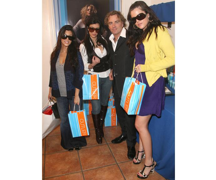 At the Grammys in 2008, Kourtney, Kim and Khloe Kardashian posed for the cameras.