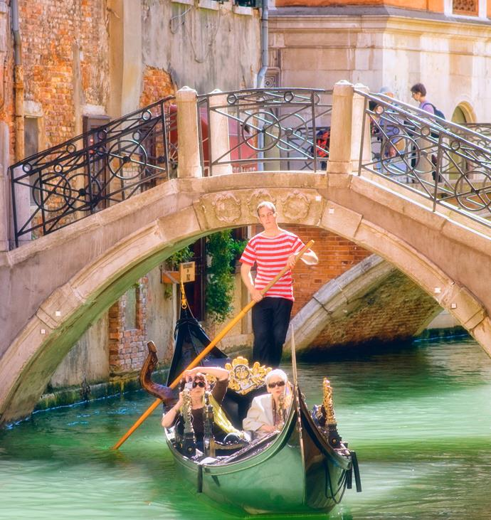 O sole mio! Gondoliers don't actually sing, but there's no better way to see the city.