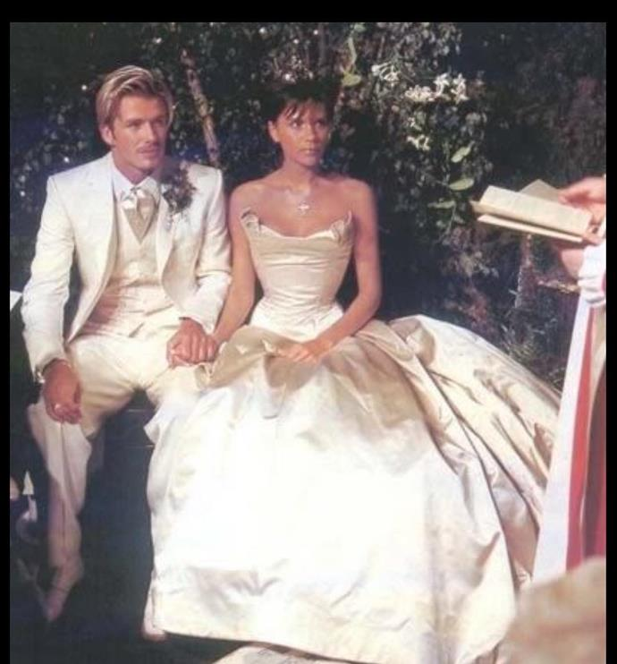 David shared this throwback glimpse at his wedding on Instagram.