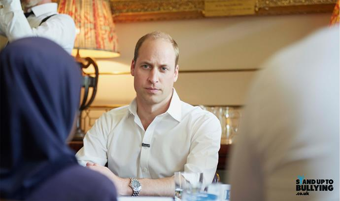 The royal takes a stand against bullying in a video message recorded for Stand Up To Bullying Day. Photo: Kensington Palace