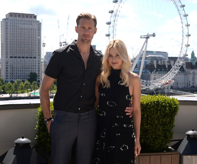 Margot Robbie and Alexander Skarsgard promote *The Legend of Tarzan* at a photocall in London.