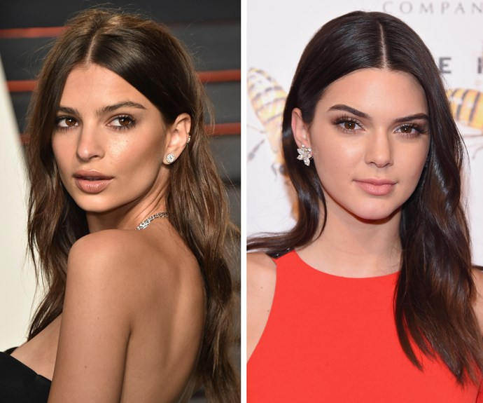 Models-of-the-moment Kendall Jenner and Emily Ratajkowski share more than a passing resemblance.