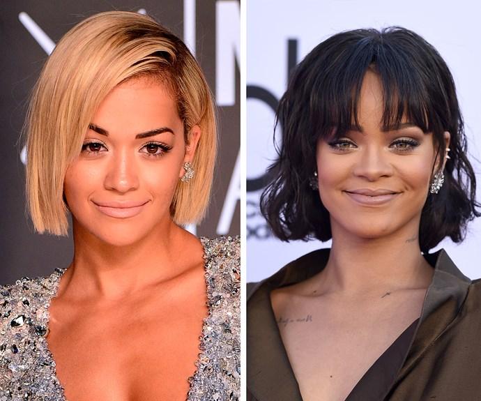 Rita Ora's resemblance to Rihanna isn't hard to see.