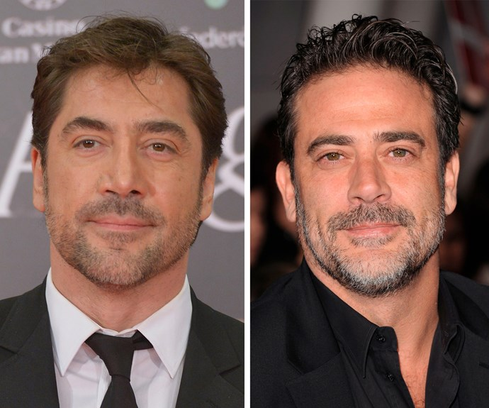 Spanish actor Javier Bardem must get mistaken for fellow actor Jeffrey Dean Morgan all the time.
