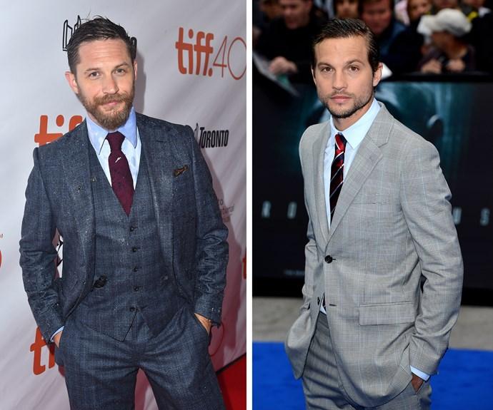 Tom Hardy and Logan Marshall-Green share the same sharp jawline and brooding good looks.