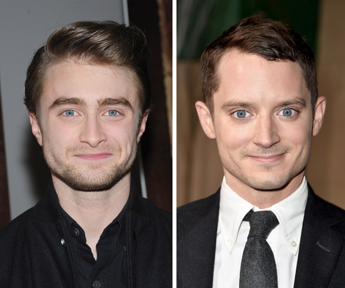 "Who knew Harry Potter and Frodo Baggins would end up looking the same? Daniel Radcliffe says that he has even signed autograph as ""not Elijah Wood"" in the video on the next slide."