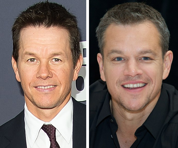 Mark Wahlberg and Matt Damon could pass for brothers - and Mark has confessed it happens so often he doesn't even try to correct people who come up to him asking for an autograph or picture.