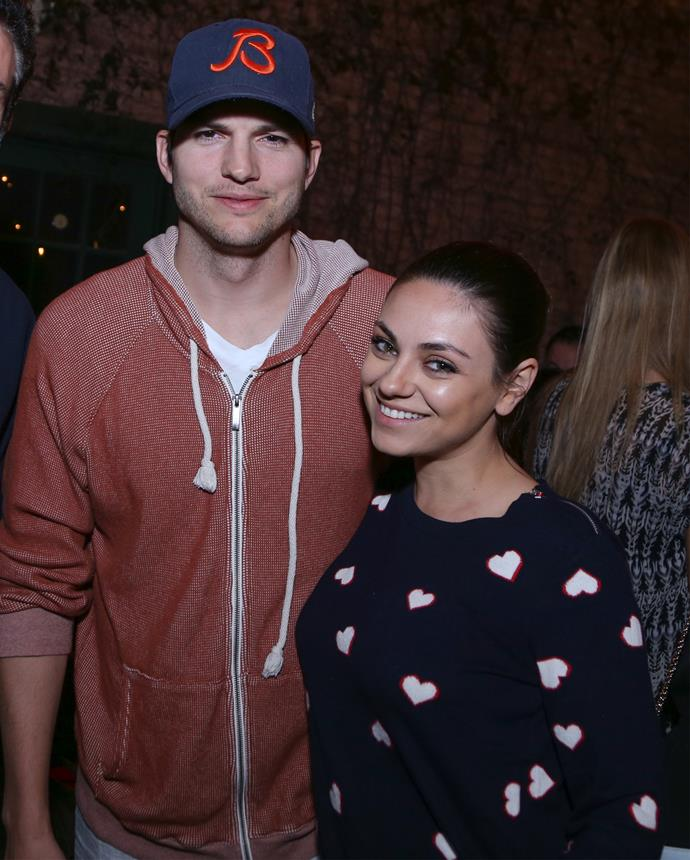 """""""There's nothing we don't know about each other,"""" Mila says of her husband Ashton. Photo: Getty"""