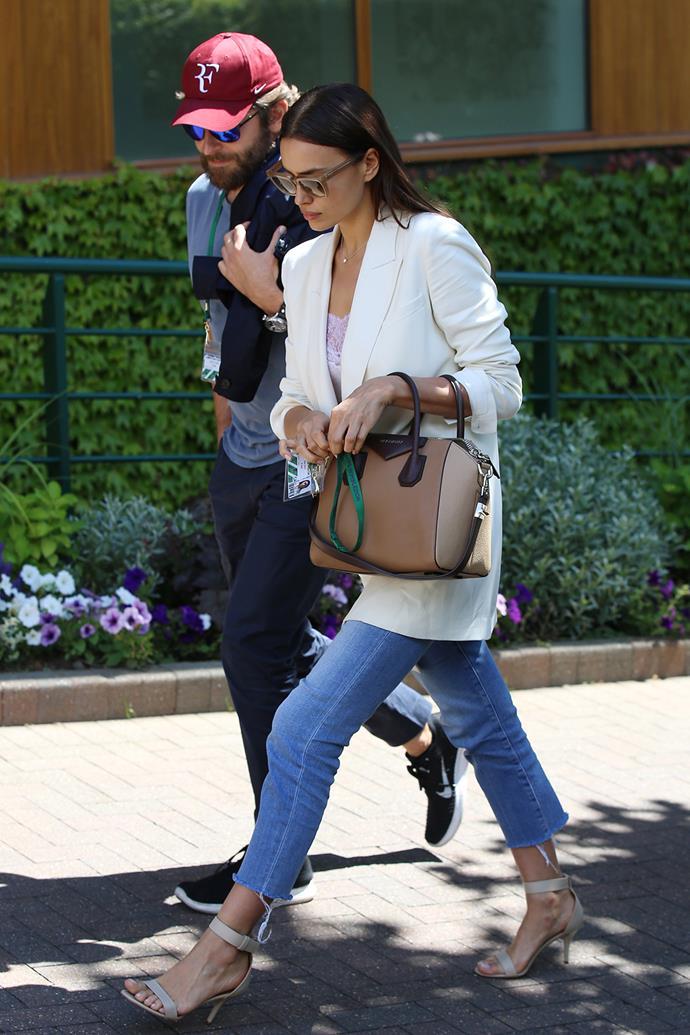 Bradley Cooper and Irina Shayk arrive at Wimbledon together.