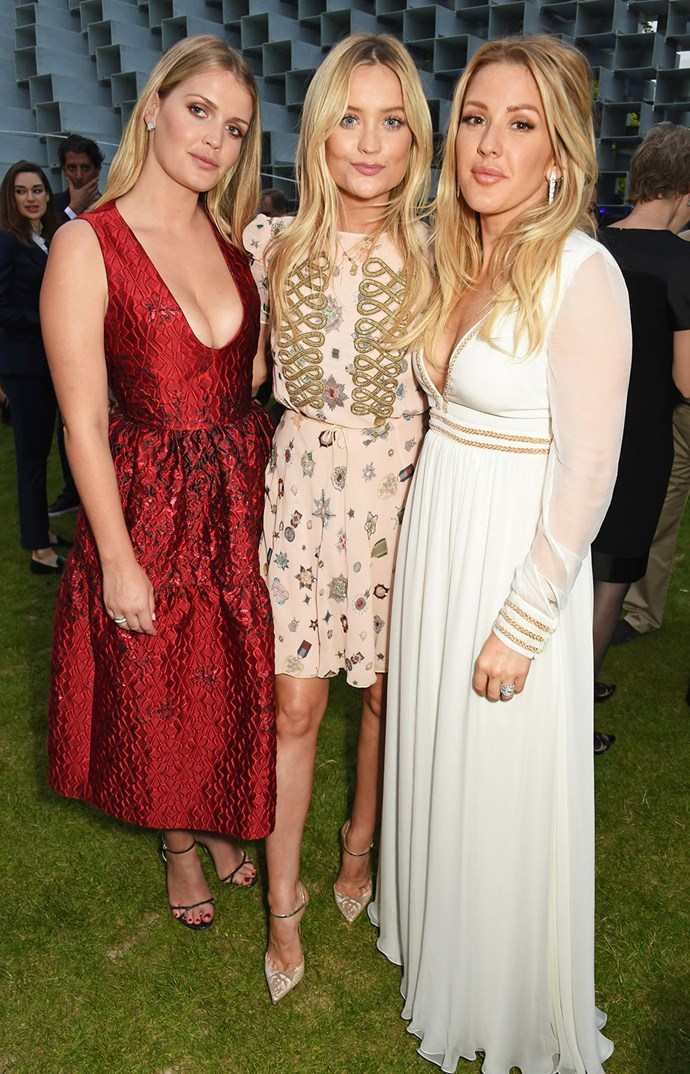 "Lady Kitty Spencer, presenter Laura Whitmore and Ellie Goulding pose for a photo during the [Serpentine Summer Party](http://www.womansday.co.nz/celebrity/hollywood-stars/stars-at-the-serpentine-summer-party-5190|target=""_blank"")."