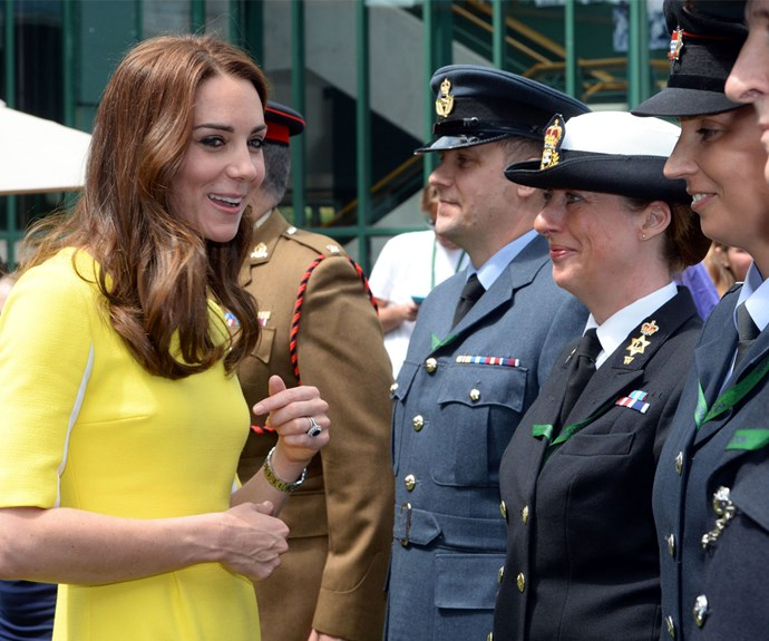 And the military personnel looked almost as thrilled as Serena!