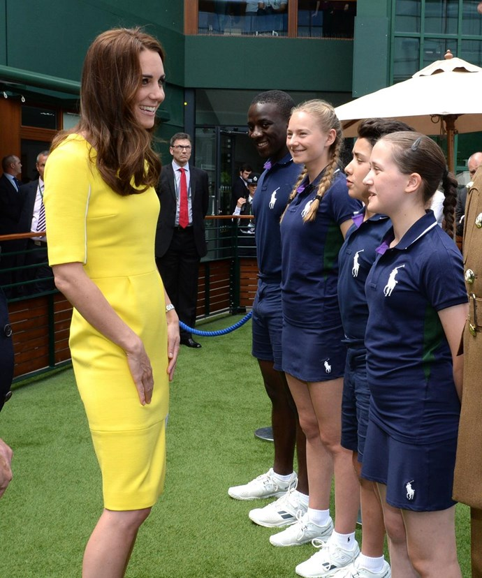 The Duchess took time out to meet with many people on her day out at the tennis.