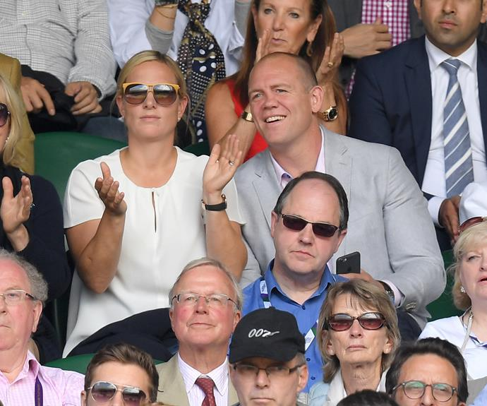 Mike Tindall and Zara Phillips were also in attendance during day nine of the tournament.