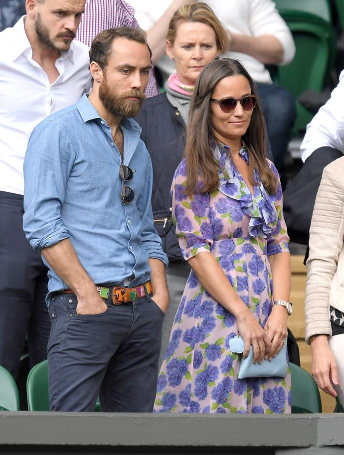 Pippa Middleton and James Middleton keep a close eye on the courts.