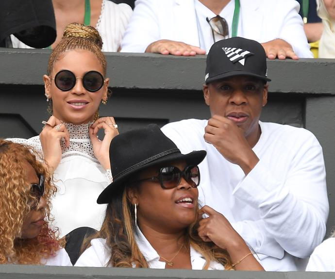 Beyonce and Jay Z were there to cheer on Serena Williams - who appeared in Beyonce's music video for 'Sorry' - as she won her 22nd Grand Slam title. **Watch them give a standing ovation for Serena in the next video - gallery continues**