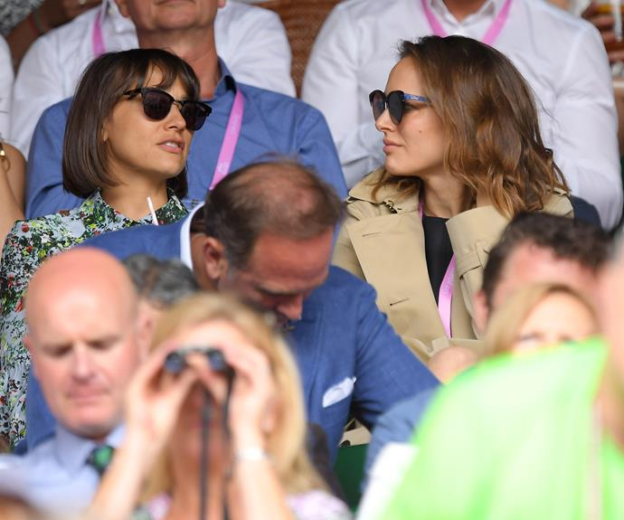 Rashida Jones and Natalie Portman attended the tournament together.