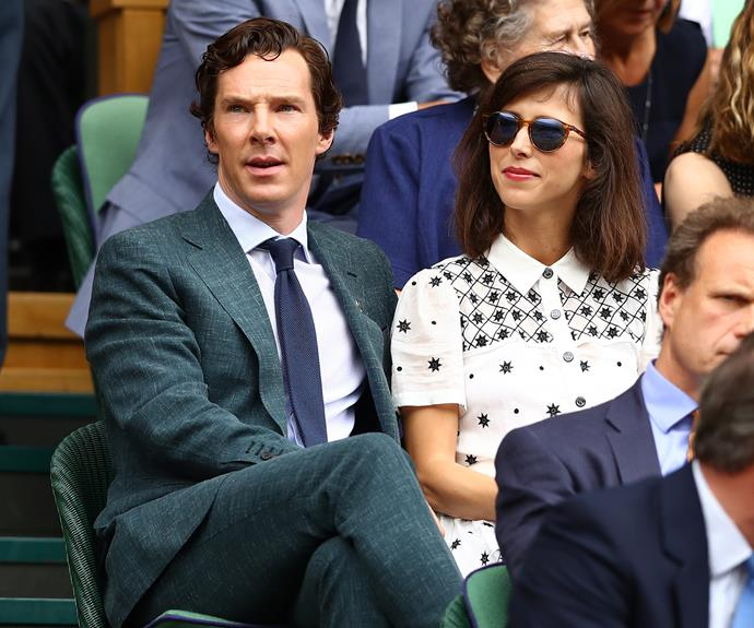 Benedict Cumberbatch and wife Sophie Hunter were also in the audience at the men's single's finals.