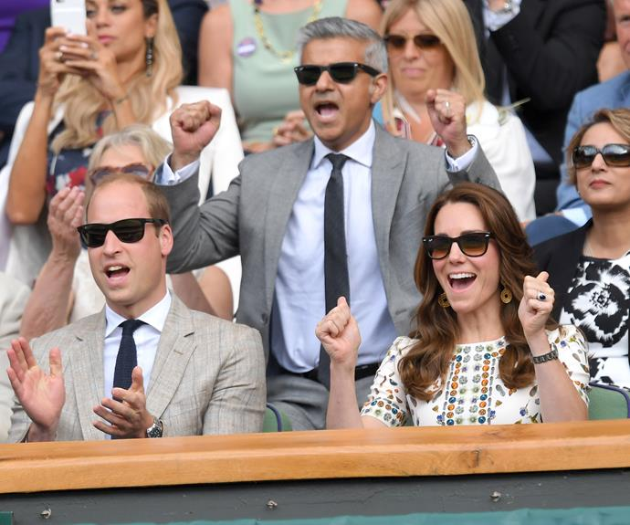 Prince William and Duchess Catherine couldn't keep the excitement from their faces as they watched Andy Murray take on Milos Raonic!