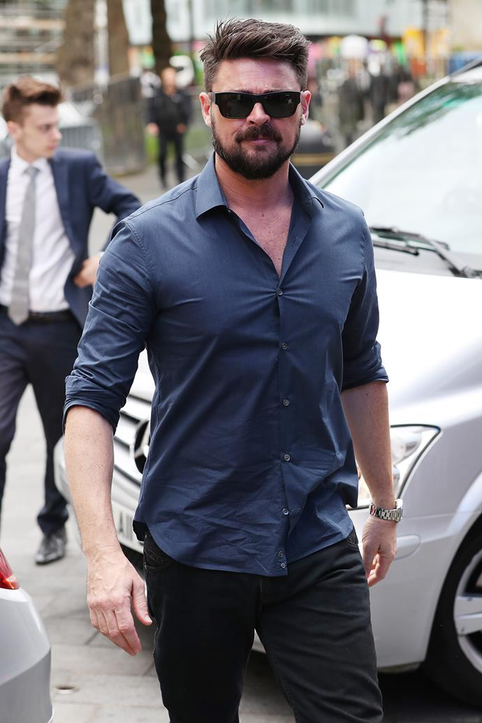 Kiwi actor Karl Urban arrives at the Global Radio Studios in London's Leicester Square.  **Watch Karl in action in the *Star Trek Beyond* trailer in the next video - gallery continues after the video**